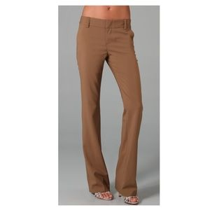 alice + olivia Stacey Pant Trouser Tan size 6 NWT